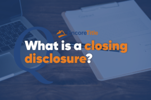 What is a closing disclosure (CD)?